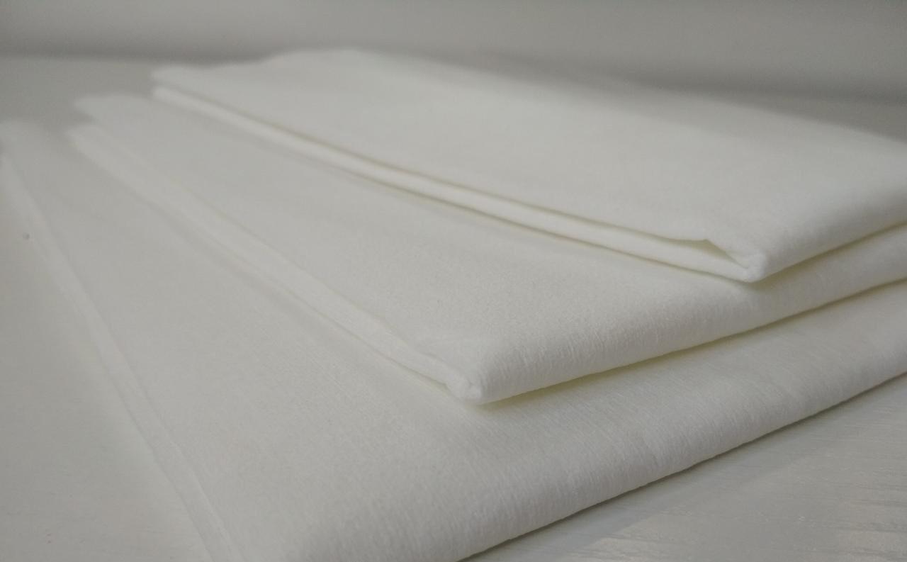 Полотенца в пачке одноразовые AQUA Absorb Doily 40см х 70см (20шт\пач) из целлюлозы 50 г/м² Гладкие