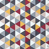 Декоративная ткань с серо-бежевой мозаикой
