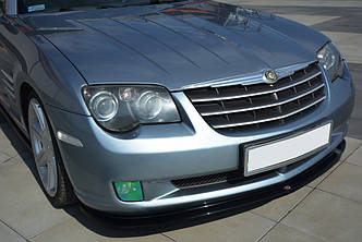 Диффузор переднего бампера губа элерон накладка тюнинг Chrysler Crossfire