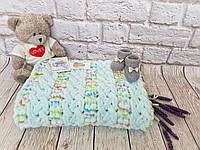 Плед детский 85х85 см Alize Puffy Color №5860 (Ручная работа) Бесплатная доставка