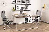 Двойной письменный стол Loft design Q-140 Орех Модена