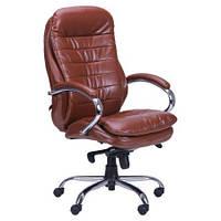 Кресло АМФ Валенсия НВ Кожа люкс тёмно-коричневая