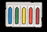 Закладки пластиковые с клейким слоем Buromax Стрелка Neon 12х45 мм, 5*20 шт, ассорти, фото 2