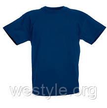 Футболка средней плотности хлопковая детская - 61033-32 темно-синяя