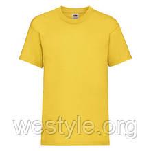 Футболка средней плотности хлопковая детская - 61033-34 солнечно-желтый