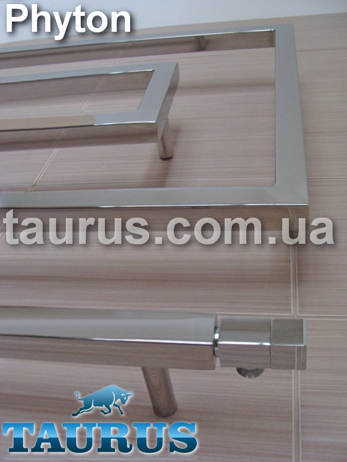 Широкий дизайнерский полотенцесушитель Phyton 10/1200 от ТМ TAURUS. Высота 670 мм. Н/ж сталь 30х30