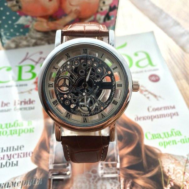 Наручные часы мужские с открытым механизмом, фото 1