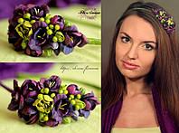 """""""Контраст"""" обруч-веночек  для волос с цветами, фото 1"""