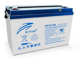 Аккумулятор глубокого разряда - 100 Ач 12В гелевый RITAR DC 12-100 AGM