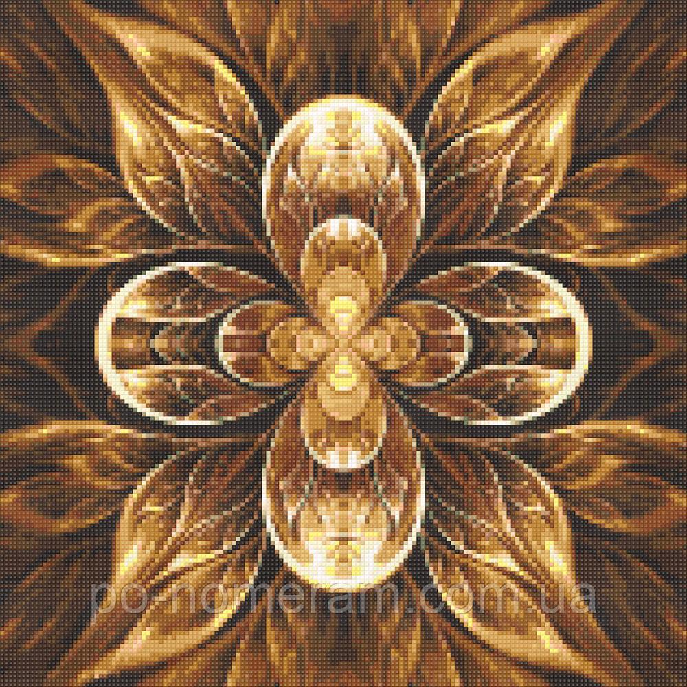 Рисование камнями на холсте Алмазная мозаика Мандала - Цветок Жизни (DM-326) 40 х 40 см (Без подрамника)