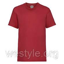 Футболка средней плотности хлопковая детская - 61033-40 красная