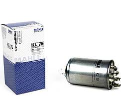 Фильтр топливный Knecht KL 75 VW Golf II-IV, LT I, T4, Passat B3, B4, 1.9TDI-2.5TDI, 78-10