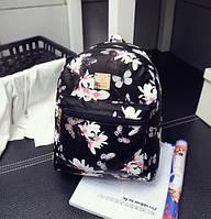 Рюкзачок детский с цветами Черный