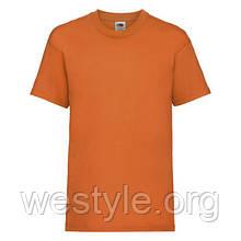 Футболка средней плотности хлопковая детская - 61033-44 оранжевая