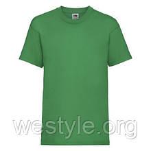 Футболка средней плотности хлопковая детская - 61033-47 ярко-зеленая