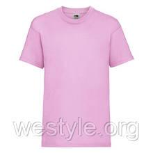 Футболка средней плотности хлопковая детская - 61033-52 светло-розовый