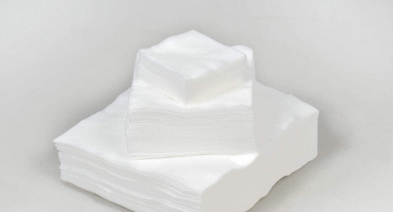 Салфетки в пачке безворсовые МІНІ Panni Mlada 6х10 см (100 шт/пач) из спанлейса 40 г/м² Гладкие