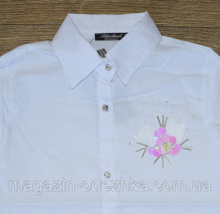 Блузка шкільна для дівчинки оптом 128-164 зростання, фото 2