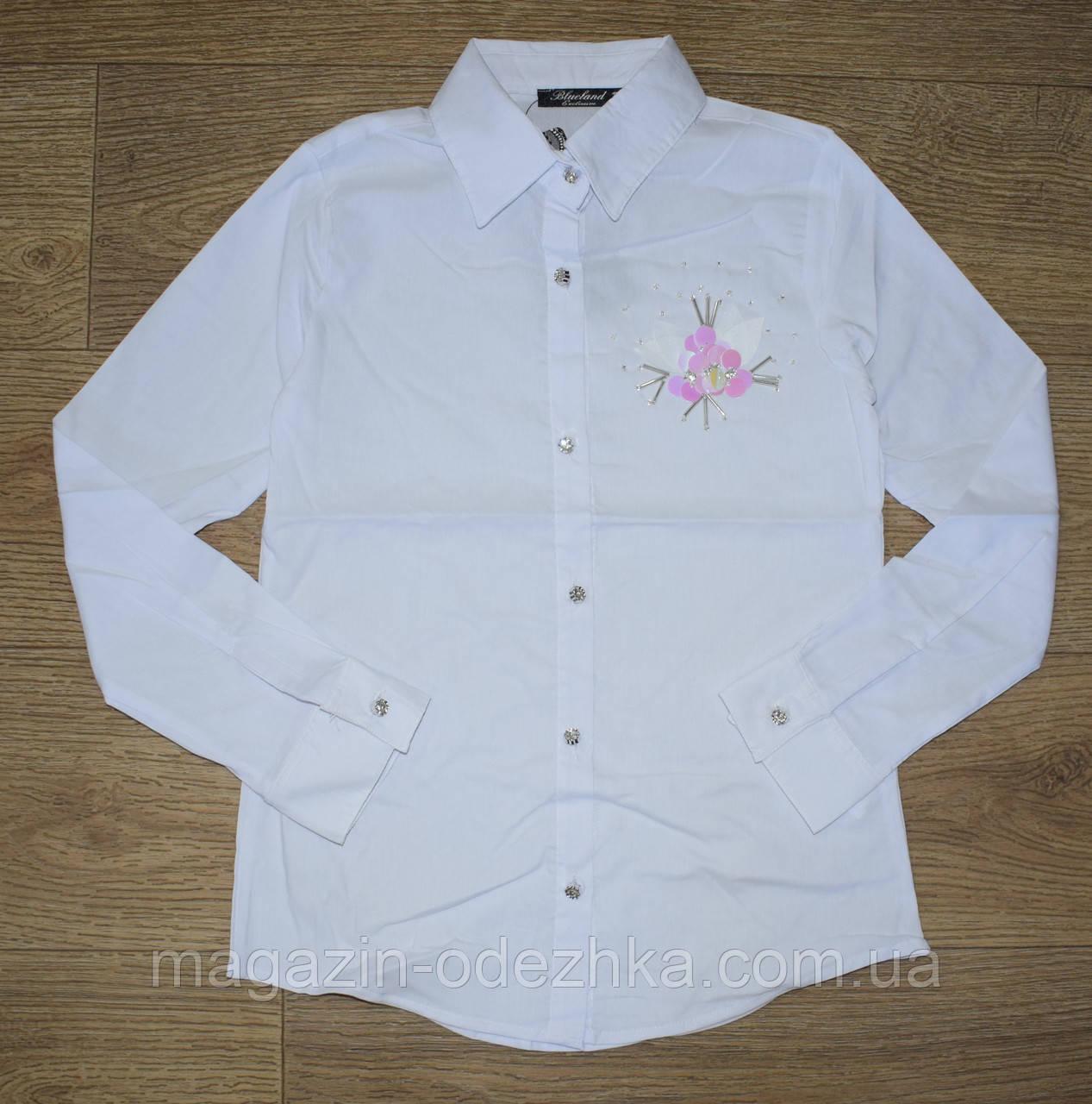 Блузка шкільна для дівчинки оптом 128-164 зростання