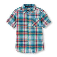 Рубашка для мальчика, короткий рукав, The Children's Place; 5/6, 7/8, 14 лет, фото 1