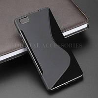 Силиконовый чехол Duotone для Huawei P8 LITE чёрный, фото 1