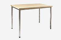 Стол с деревянной столешницей без полки