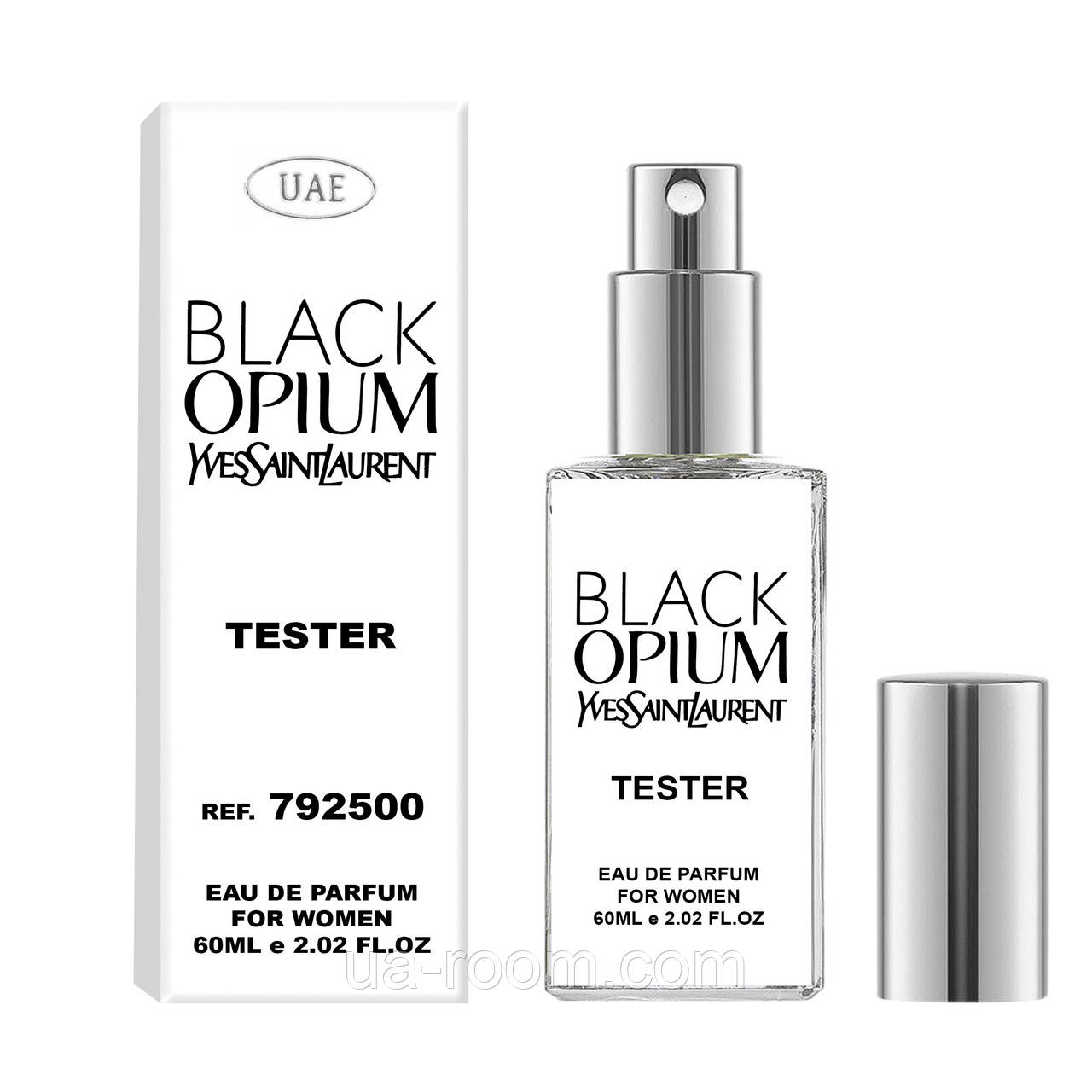 Тестер женский  UAE Yves Saint Laurent Black Opium, 60 мл.