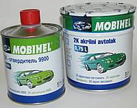 Авто краска (автоэмаль) акриловая Mobihel 040 тойота белая 0,75л + отвердитель 9900 0,375л