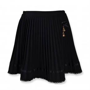 Нарядная дешевая юбка плиссированная для школы, черный,синий цвет, фото 2