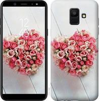 Чехол Endorphone на Samsung Galaxy A6 2018 Сердце из роз 713c-1480-18675 (713-1480)