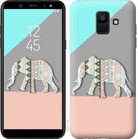 Чехол Endorphone на Samsung Galaxy A6 2018 Узорчатый слон 2833c-1480-18675 (2833-1480)