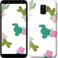 Чехол Endorphone на Samsung Galaxy A6 2018 Кактусы в горшочках 3968c-1480-18675 (3968-1480)