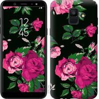 Чехол Endorphone на Samsung Galaxy A6 2018 Розы на черном фоне 2239c-1480-18675 (2239-1480)
