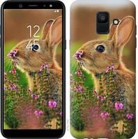 Чехол Endorphone на Samsung Galaxy A6 2018 Кролик и цветы 3019c-1480-18675 (3019-1480)