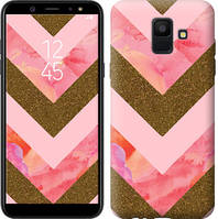 Чехол Endorphone на Samsung Galaxy A6 2018 Нежный шефрон 3538c-1480-18675 (3538-1480)