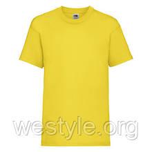 Футболка средней плотности хлопковая детская - 61033-K2 желтый