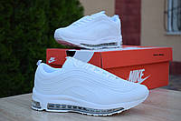 Кроссовки Nike Air Max 97 женские, в стиле Найк Аир Макс, белые. Резина, текстиль, код OD-2632