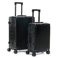 Чемодан комплект 2 в 1 ABS-пластик 06 black замок, фото 1