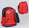 Школьный рюкзак Бомбер красный с пеналом, мягкая спинка