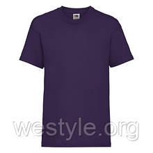 Футболка средней плотности хлопковая детская - 61033-PE фиолетовая