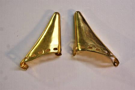 Носики золото (украшение на носок женской обуви) №007, фото 2