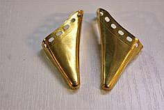 Носики золото (украшение на носок женской обуви) №007