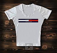 Женская футболка белого цвета TOMMY HILFIGER (реплика)