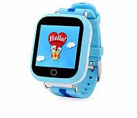 Смарт-часы детские умные Q100 оригинальные голубые, фото 1