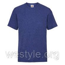 Футболка средней плотности хлопковая детская - 61033-R6 синий меланж