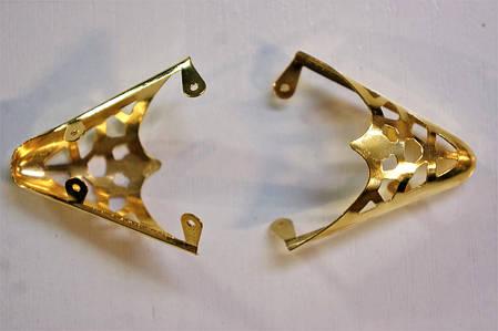 Носики золото (украшение на носок женской обуви) №008, фото 2