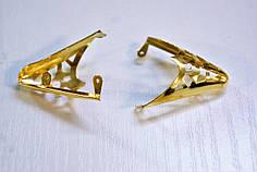 Носики золото (украшение на носок женской обуви) №008