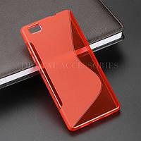 Силиконовый чехол Duotone для Huawei P8 LITE красный, фото 1