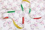 """Хлопок с цифровой печатью """"Розовые пони"""" на белом № 2344, фото 5"""