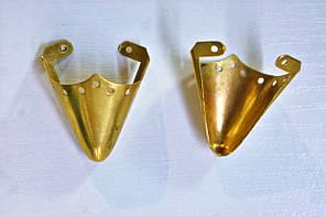 Носики золото (украшение на носок женской обуви) №010, фото 2